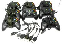 Lot of 8 Official Original Xbox S Type Controllers with 6 Breakaways Untested