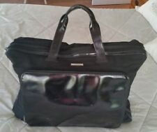 Authentic GUCCI Travel Garment Hand Bag  Overnight Nylon Leather Black Italy