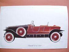 Photo couleur ancienne Renault 40 cv modèle 1922  .D11