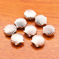 #7016#  50 Pieces 10mm Shell Beads Spacer Charm Tibetan Silver DIY Jewelry Bead