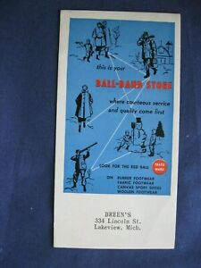 Vintage Ink Blotter Breen's Ball-Band Store Lakeview MI  Michigan LV