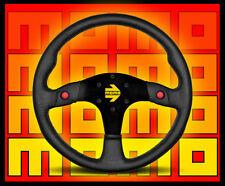 MOMO Model 80 Leather Steering Wheel     Black      FREE Priority Shipping