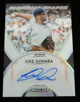Authentic Autographed Baseball Card Luiz Gohara Atlanta Braves
