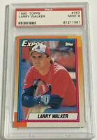 1990 TOPPS LARRY WALKER #757 MONTREAL EXPOS ROOKIE RC PSA 9 MINT (DR)