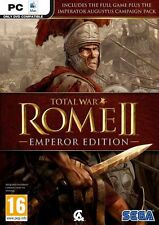 ROME II - Emperor Edition (PC, 2013) + Blood & Gore DLC Digital Version No Discs