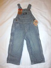 Boys OshKosh Latzhose striped overall conductor bib Jeans 5T Months NWT Fall Pic