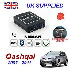 For Nissan Qashqai Music Streaming Bluetooth Telephone Charger SD AUX CD Module