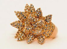 CC Skye Pave Wicked Boca Ring Gold Plated Swarovski crystals size 7