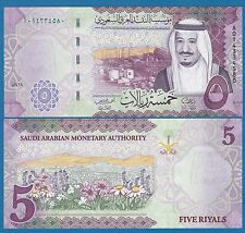 Saudi Arabia 5 Riyals P New 2016 (2017) UNC Low Shipping Combine FREE