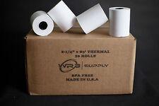 50 Rolls 2 14 X 85 Thermal Receipt Paper Ebw Auto Stik 950