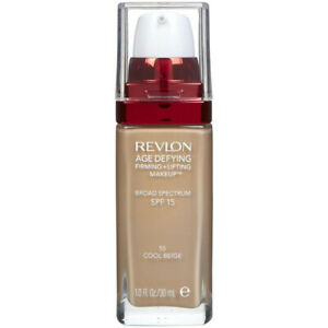 REVLON - Age Defying Firming Plus Lifting Makeup #55 Cool Beige 1 fl. oz. (30ml)