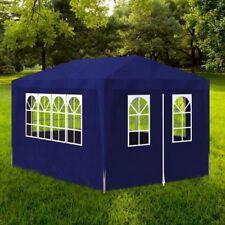 Gazebo da Giardino Tenda da Esterno 3 x 4 m Blu