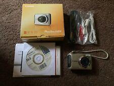 Canon PowerShot A495 10.0MP Digital Camera w/ Box & Cords - Silver