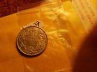 Canada 1919 Mint Grade 25 Cent Silver Coin Rare ID#B1077.