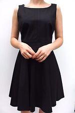 Karen Millen DW391 Black Fit Flare Skater Cotton Casual  Dress 12 40