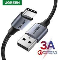 Ugreen Usb Type C Cable Charger Nylon Braided Quick Charge 3.0 Samsung Fast 6ft