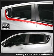 Chevrolet Spark 2013 2014 2015 Side Accent Stripes Decals (Choose Color)