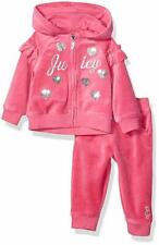 Juicy Couture Baby Girls 2-PC Hooded Velour Track Suit Set Pink ( 6/9 M )
