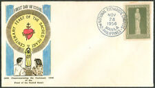 1956 Phil Commemorating The Centenary FEAST OF THE SACRED HEART FDC - C