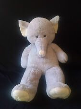 "Giant Stuffed Elephant Gray large giant Plush 38"" tall Best Made Toys 2013"