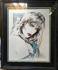 """Dennis Mukai 1989 Pop Art """"CAREN""""  Signed Serigraph Framed Art Print 167/390"""