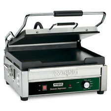 "Waring Wfg275 Tostato Supremo 14"" x 14"" Flat Sandwich Panini Grill 120v"