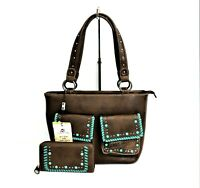 Montana West Concealed Carry Purse Matching Wallet Set Western Country Handbag