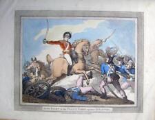 Acqueforti [incisioni] Cavalleria Napoleonica SPADA TRAPANI Rowlandson sul davanti, Parry FANTERIA 1799