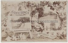 Greetings from Finsbury Park, London 1909 Multiview RP Postcard B778