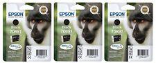 5x Epson Original T0891 Affe, wisch- und wasserfeste Tinte schwarz