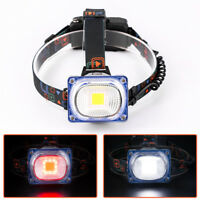 High Power COB LED Headlight Wide angle Headlamp Removable USB Torch outdoor G-9