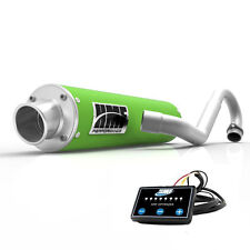 HMF Performance Full System Exhaust Pipe Green + EFI Optimizer Brute Force 750