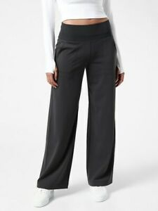 ATHLETA Venice Wide Leg Pant  MP Medium Petite M P | Black #982868 NEW