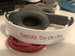 Beats by Dr. Dre Solo HD Headband Headphones Wired Used - White