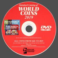 CATALOGO MONETE MONDIALI DAL 1601 AL 2019 - WORLD COINS 2019 - ORIGINALE SU DVD