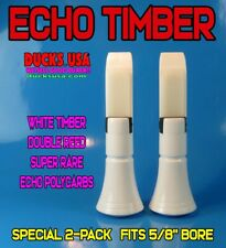 Echo Duck Call Insert Polycarb Rare White Timber 2-Pack Double Reed