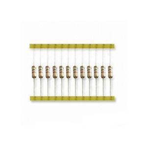 100 Pack Carbon Resistors 0.25w 1/4w Various Resistances 1 Ohm to 10M Ohm