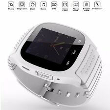M26 Bluetooth Wrist Smart Watch Phone Mate For iPhone Android IOS Samsung White