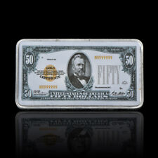 WR 1928 $50 Dollar Note Gold Certificate US Commemorative Bar Fine Silver Ingot