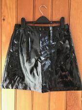 primark patent black faux leather pu mini skirt 10 18 20 glamour