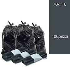100 Sacchi Differenziata Buste Immondizia 70x110 cm NERE / Spazzatura