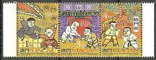 Macau - Asiatische Kampfsportarten Dreierstreifen postfrisch 1997 Mi. 943-945