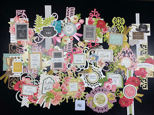 Lot Of 20 Assorted Anna Griffin Collage Toppers Card Making Scrapbooking