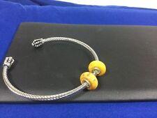 2 Bauble Lulu Beads Wood Charm Beads Fits All European Bracelets BLB 7