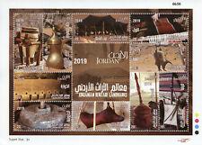 Jordan Stamps 2019 MNH Jordanian Heritage Landmarks Cultures Traditions 10v M/S