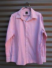 Daniel Hechter Paris Men's Business L/S Shirt Pink + White Size 42 Chest 110 cm