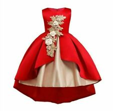 Wedding princess party flower girl formal dress tutu kid bridesmaid dresses baby