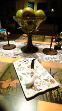 Buckingham by Sadek Andrea floral cheese and cracker board and knife