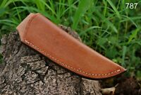 Custom Hand Made Pure Leather Sheath For Fixed Blade Knife - Q 787