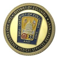 U.S. United States | District Of Columbia Fire Department | Gold Plated Coin